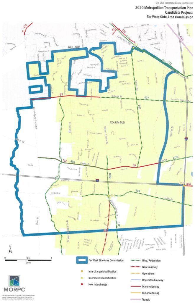 MTP Candidate Projects FWSAC Map